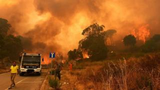 Wildfire in Sicily's Messina district, 10 Jul 17
