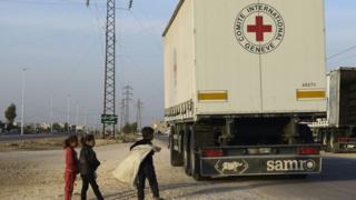 Автомобиль МККК в Сирии