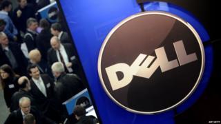 Dell logo at a technology fair