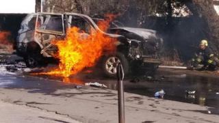 у Маріуполі вибухнуло авто