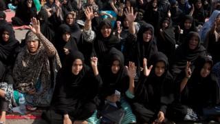 کراچی میں مظاہرین