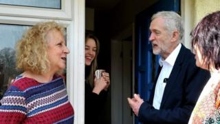 Jeremy Corbyn on the campaign trail in Harlow