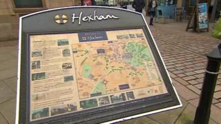 Hexham town map