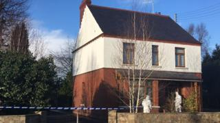 Forensic officers are at a house in Sydney Street in Aughnacloy