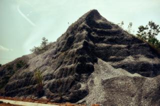 A pile of dirt in Kumasi, Ghana