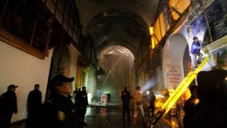 Incendio en la iglesia de San Sebastián, Perú