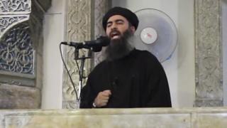 Image de Abu Bakr al-Baghdadi, parte de un video difundido el 5 de julio de 2014.