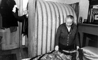 Mr Beanland, of Springburn, erected an Anderson Shelter in his bedroom. 1941