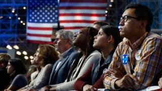 Сторонники Клинтон в ночь после выборов