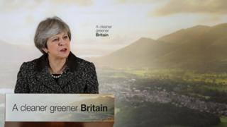 Theresa May launching the government's 25-year environment effort