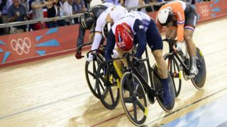 Chris Hoy about to take gold 2012
