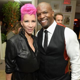 Rebecca King-Crews (L) and Terry Crews attend the 2017 Entertainment Weekly Pre-Emmy Party at Sunset Tower on 15 September 2017 in West Hollywood, California