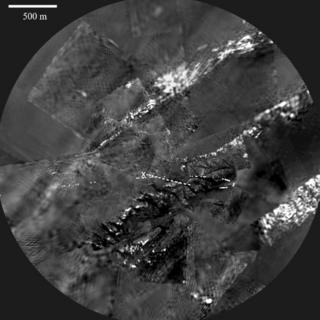 Панорамный снимок с Титана. 30 ноября 2005 года.
