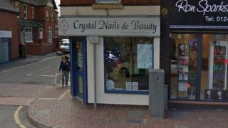 The outside of Crystal Nails & Beauty