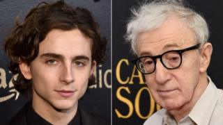 Timothee Chalamet and Woody Allen