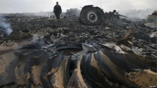 Plane crash site taken on 17 July 2014