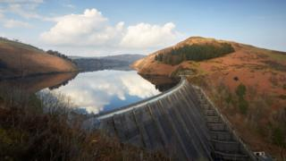Llyn Clywedog - one of Severn Trent's Welsh reservoirs in Powys