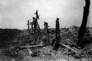 Bapaume - Arras sector of the battlefield after the first Battle of the Somme had taken place
