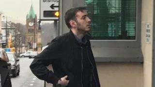 Eamon Bradley arriving at court