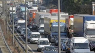 Lorries on the M6