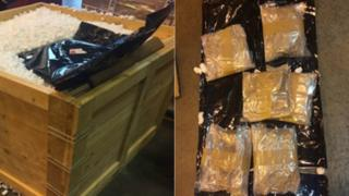 Drugs smuggled in crate
