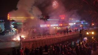 北京民众看烟花(27/1/2017)