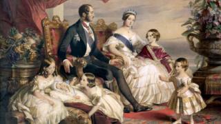 Королева Виктория, принц Альберт и их дети