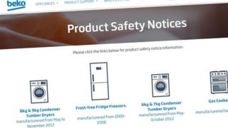 Beko safety notice