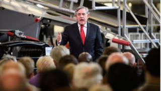 Gordon Brown gives speech to supporters in Coventry