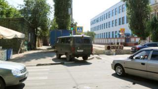 Ремонт дороги на перекрестке улиц Большая Казачья и Степана разина