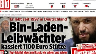 Bild headline - screenshot