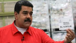 A handout photo made available by Miraflores shows Venezuelan President Nicolas Maduro during an event in Caracas, Venezuela