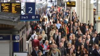 File photo dated 2013 showing passengers leaving the platform at Paddington Station.