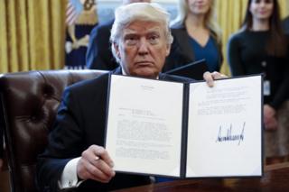 Tổng thống Mỹ Donald Trump đã tạm thời cấm công dân của bảy quốc gia có đa số dân Hồi giáo vào Mỹ.