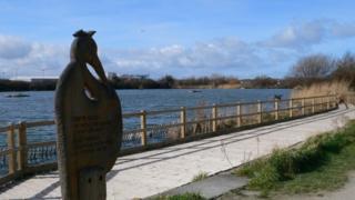 Brickfields Pond in Rhyl