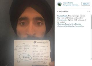 Picture of Waris Ahluwalia with his ticket