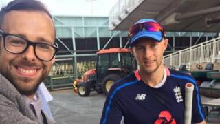 Andrew Edwards with Joe Root