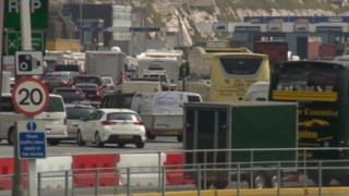 Dover delays due to increased French security checks