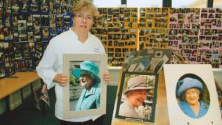 Sheila with her collection of Royal photos