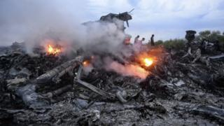 Debris of MH17 in Donetsk region, eastern Ukraine. Photo: 17 July 2014