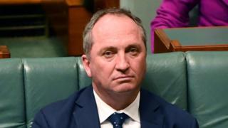 Australian Deputy PM Barnaby Joyce in parliament