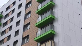 Cladding on Swansea block of flats