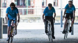 Elliot, Max and Matthew on a training sprint