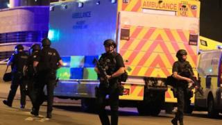 полиция в Манчестере после взрыва