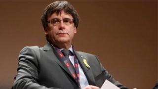 Mr Puigdemont ya tsere Belgium bayan da Catalonia ta ayyana 'yancin kai a wata Oktobar bara