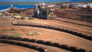 BHP Billiton iron ore depot in Port Headland, Australia