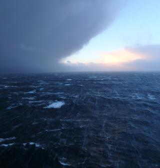 The arrival of Storm Connor is pictured by Iain Campbell from the Auk platform in the North Sea