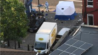 The scene in Finsbury Park