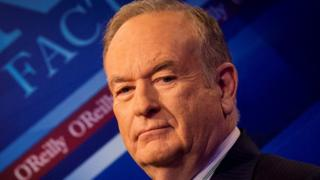 "Fox News Channel host Bill O""Reilly poses on the set of his show ""The O""Reilly Factor"" in New York March 17, 2015"