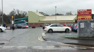 The incident happened in the Railway Place car park in the town